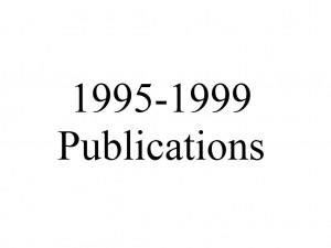 Publications 1995-1999
