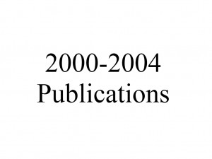 Publications 2000-2004