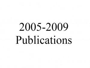 Publications 2005-2009