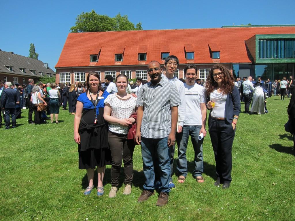 Kuhnert Group at Graduation at Jacobs University, Bremen 2015