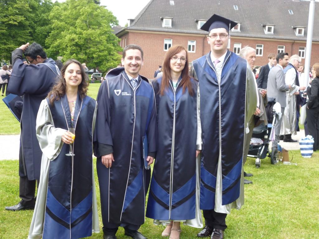Graduation at Jacobs University, Bremen 2013